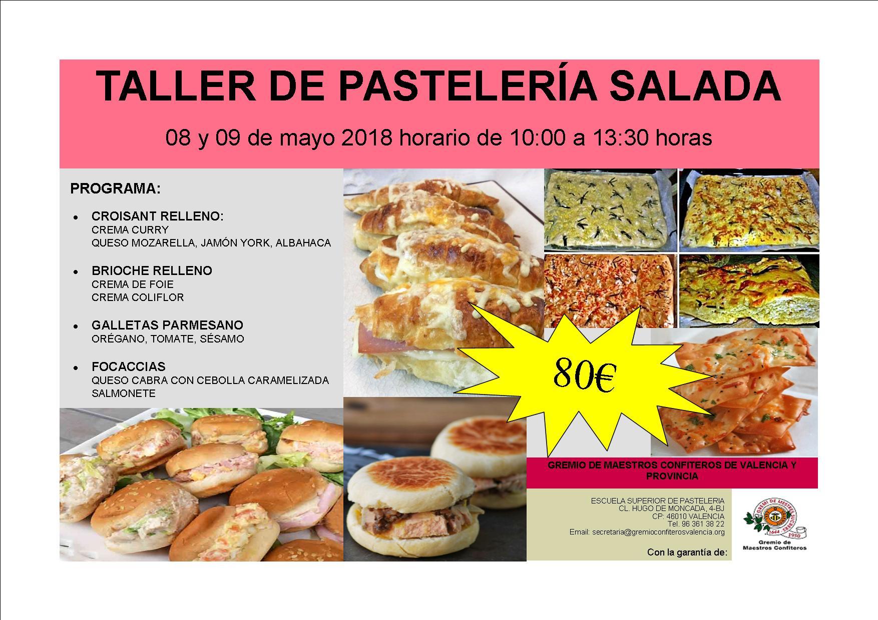 CURSO PASTELERÍA SALADA