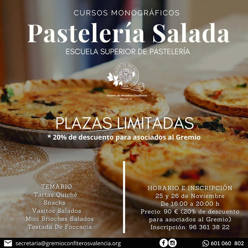 CURSO DE PASTELERÍA SALADA