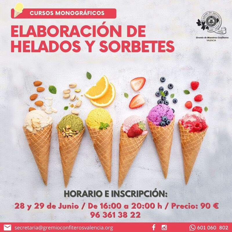 ELABORACIÓN DE HELADOS Y SORBETES
