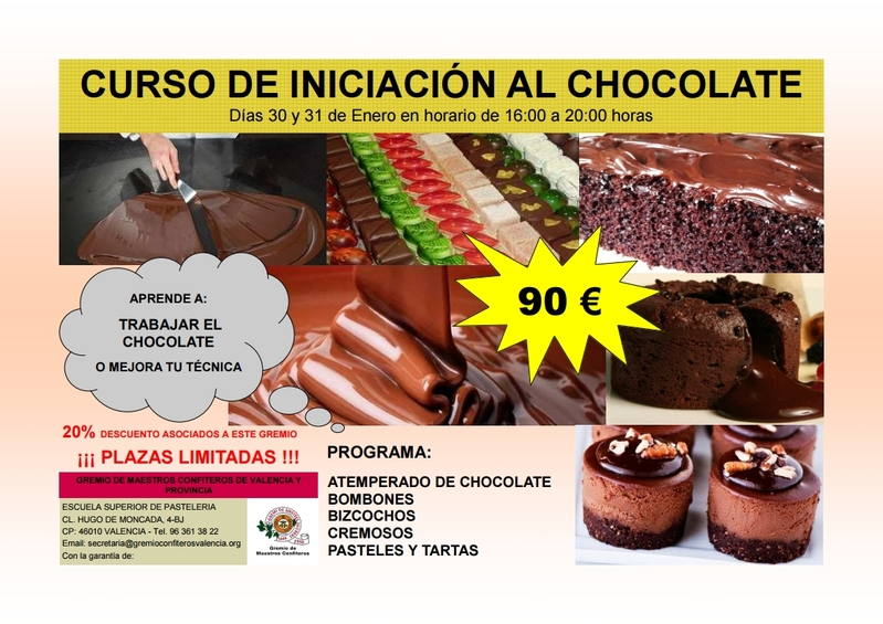CURSO DE INICIACIÓN AL CHOCOLATE