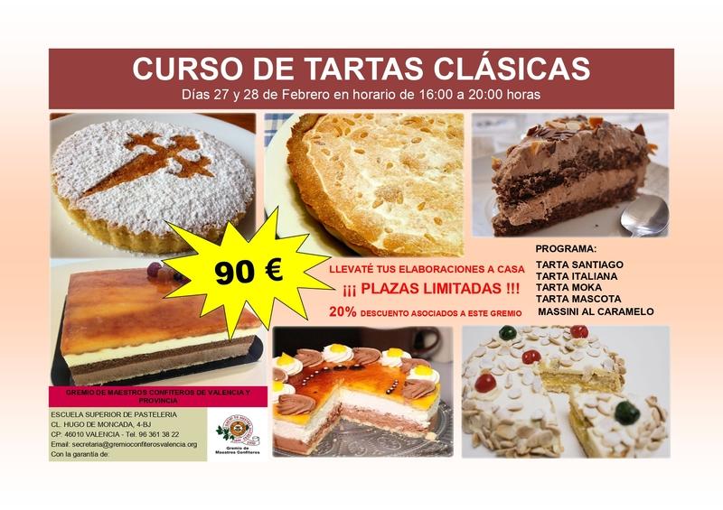 CURSO DE TARTAS CLÁSICAS